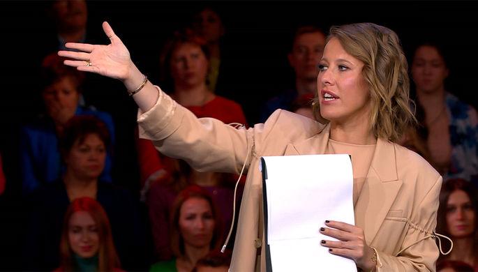 Ксения Собчак в шоу «Док-Ток» (кадр из видео)