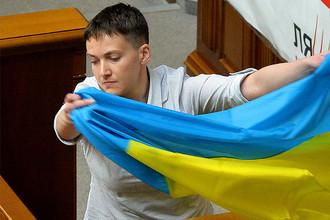 Надежда Савченко на заседании Верховной рады Украины, май 2016 года