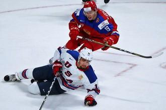 Молодежная сборная России по хоккею на МЧМ против США