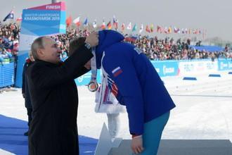 Владимир Путин на Универсиаде