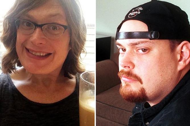 Слева: Эндрю Вачовски после смены пола, справа — до смены пола