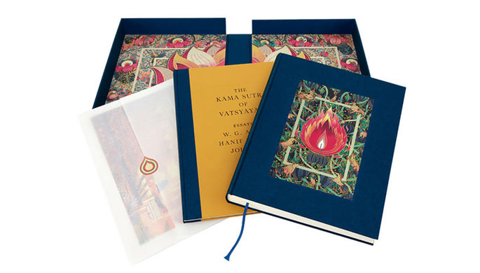 Обложка книги «The Kama Sutra of Vatsyayana», иллюстрированная Victo Ngai