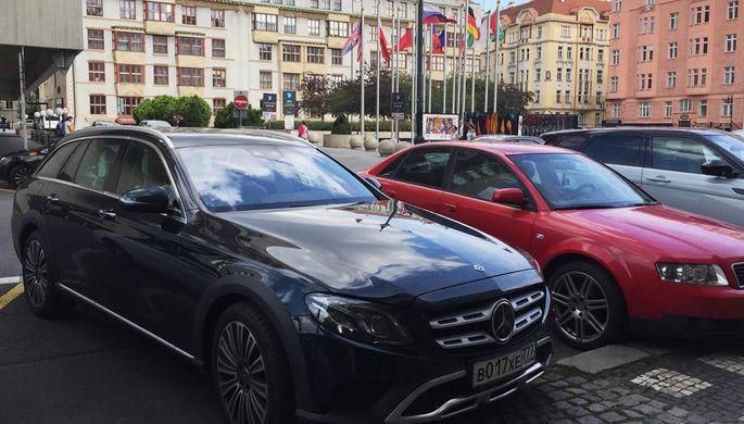 На парковке в Праге (Чехия)