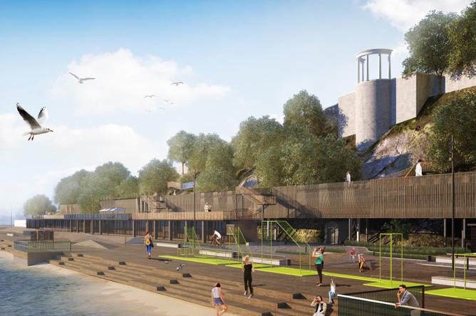Предварительные визуализации из проекта КБ «Стрелка» и архитектурного бюро «Архибат»