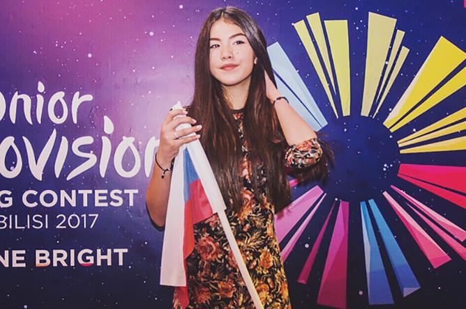 Участница «Детского Евровидения-2017» от России Полина Богусевич перед выступлением