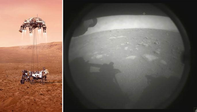 Езеро надежды: вертолетоносец сел на Марс