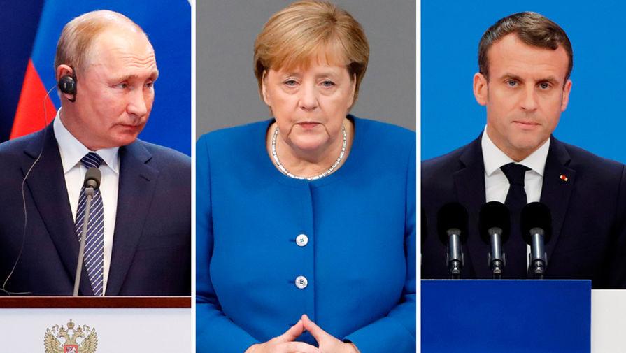 FT: Меркель и Макрон хотят пригласить Путина на саммит ЕС