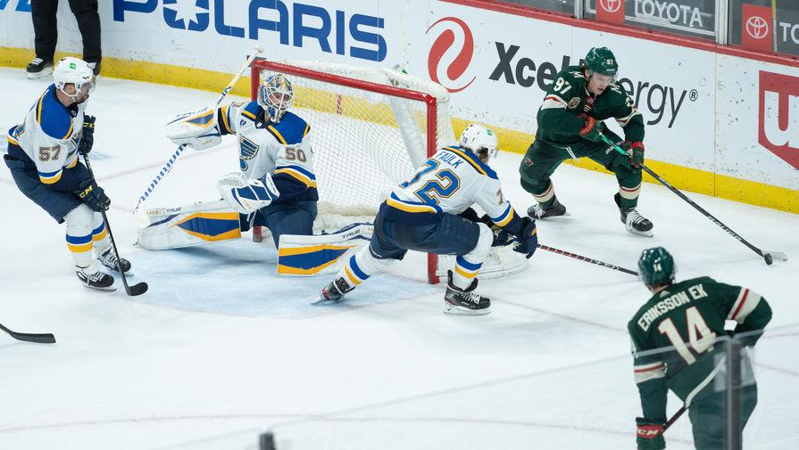 Нападающий «Миннесоты» Кирилл Капризов в матче НХЛ против «Сент-Луиса»