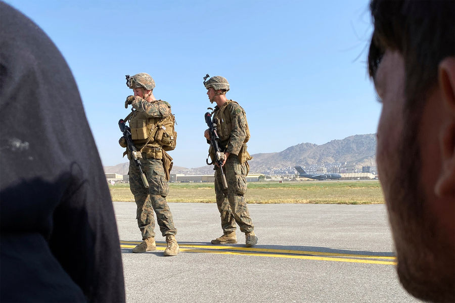 Солдаты США ваэропорту Кабула