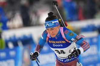 Российская биатлонистка Татьяна Акимова