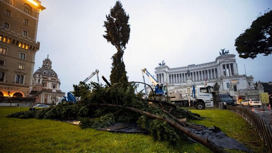 Итальянцы расстроились из-за уродливой рождественской елки в центре Рима