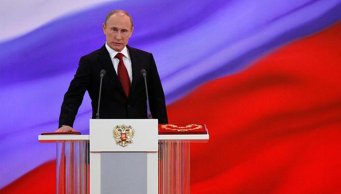 Президент Владимир Путин во время церемонии инаугурации, 2012 год