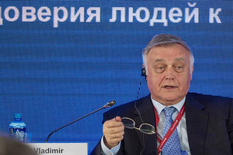 Владимир Якунин на ПМЭФ-2018