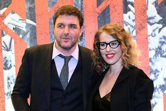 Актер Максим Виторган и его супруга Ксения Собчак на кинопремьере в Москве, 2016 год