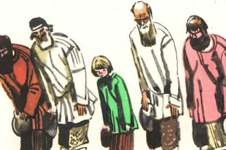 Иллюстрация к стихотворению Н.А. Некрасова «Размышления у парадного подъезда»