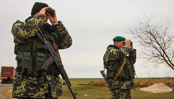 Сотрудники пограничной службы в Херсонской области Украины, 2014 год