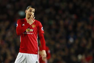 Нападающий «Манчестер Юнайтед» Златан Ибрагимович
