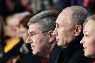 Президент России Владимир Путин на церемонии открытия Олимпиады в Сочи