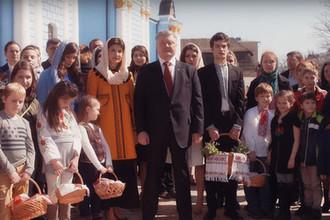 Президент Украины во время его пасхального обращения к народу, 7 апреля 2018 года