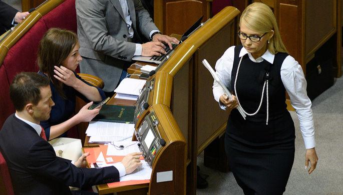 Лидер фракции «Батькивщина» Юлия Тимошенко