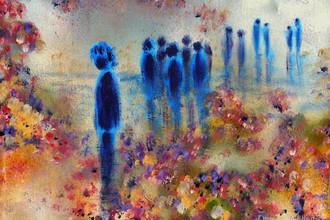 «Аутсайдер», картина Донны Уильямс. Родилась в 1963 году в Австралии, сейчас успешная художница и писательница. Написала бестселлер «Никто из Ниоткуда: необычная автобиография девочки-аутиста», в котором на собственном примере помогла лучше понять природу аутизма