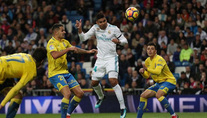 Полузащитник «Реала» Каземиро за секунду до своего гола