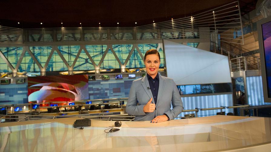 Телеведущая Екатерина Андреева в студии программы «Время», 2017 год