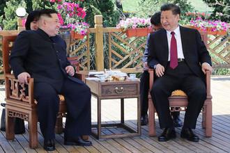 Встреча высшего руководителя КНДР Ким Чен Ына и председателя КНР Си Цзиньпина в провинции Ляонин на северо-востоке Китая, 7 или 8 мая 2018 года