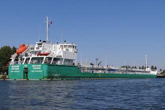 Российский танкер «Механик Погодин» в порту Херсона, август 2018 года