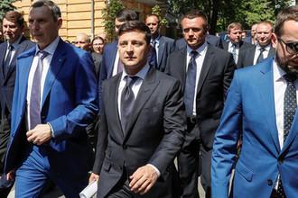 Президент Украины Владимир Зеленский после церемонии инаугурации в Киеве, 20 мая 2019 года