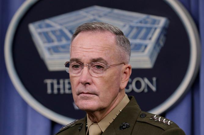 Глава объединенного комитета начальников штабов вооруженных сил США Джозеф Данфорд, 2017 год