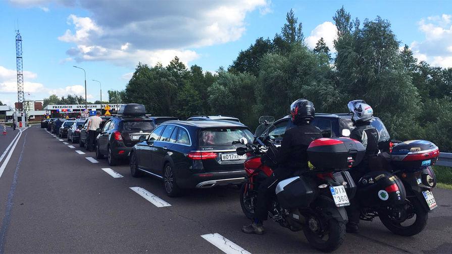 Очередь на польско-белорусской границе