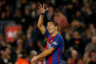«Барселона» победила «Спортинг», Луис Суарес оформил дубль