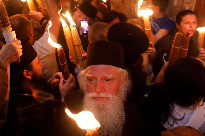 Сошествие благодатного огня в Иерусалиме, 7 апреля 2018