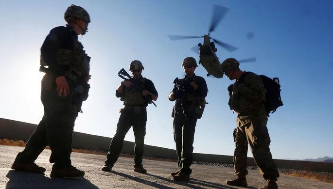 Военнослужащие НАТО во время учений в Афганистане, 2017 год