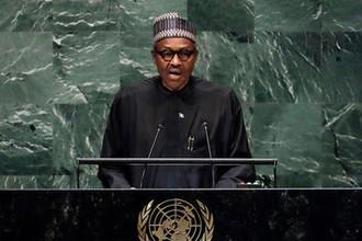 Президент Нигерии Мохаммаду Бухари, 25 сентября 2018 года