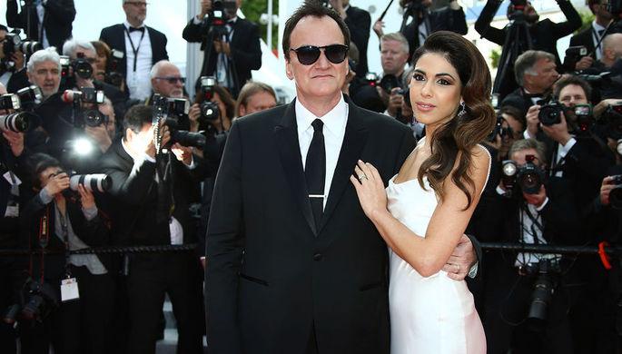 Режиссер Квентин Тарантино и его жена Даниэлла Пик на премьере фильма Тарантино «Однажды... в Голливуде» в Каннах, 21 мая 2019 года