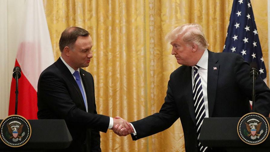 Focus: Трамп «набросился» на Германию на встрече с Дудой