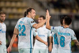 Нападающий «Зенита» Артем Дзюба впервые за долгое время вышел в стартовом составе и забил