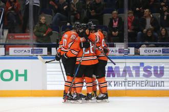 Игроки хабаровского хоккейного клуба «Амур»