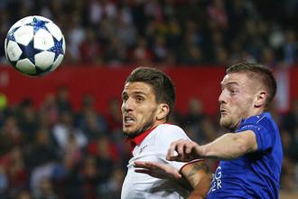 Английский «Лестер» принимает на своем поле испанскую «Севилью» в матче 1/8 финала Лиги чемпионов