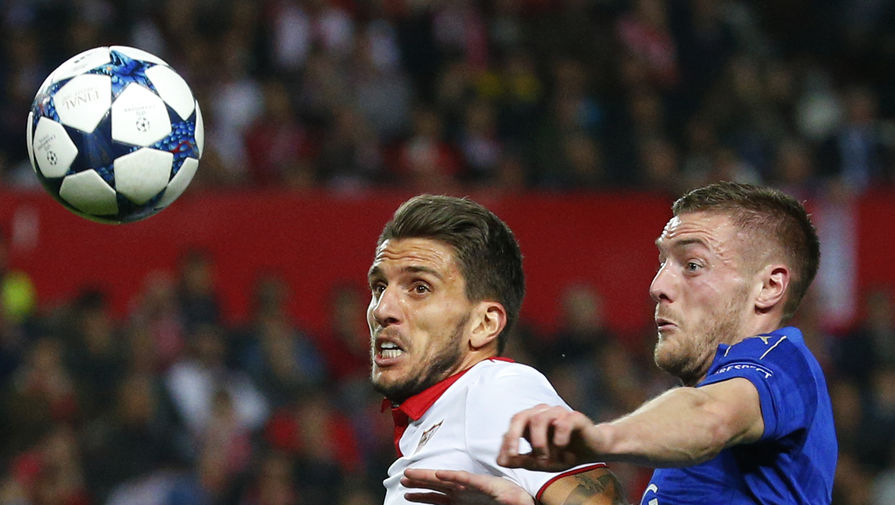 Английский «Лестер» принимает на своем поле испанскую «Севилью» в матче 1/8...