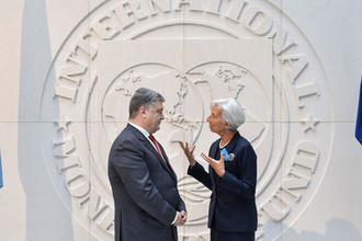 Президент Украины Петр Порошенко и директор-распорядитель Международного валютного фонда Кристин Лагард