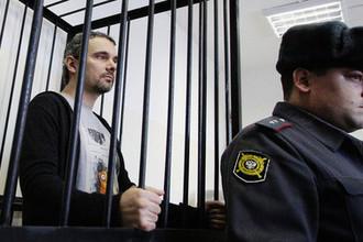 Фотограф Дмитрий Лошагин во время заседания в Октябрьском районном суде Екатеринбурга, январь 2014 года