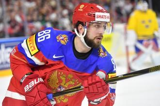 Нападающий сборной России Никита Кучеров на чемпионате мира по хоккею — 2017