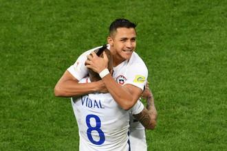 От игры Артуро Видаля и Алексиса Санчеса во многом зависит выступление сборной Чили в финале Кубка конфедераций против команды Германии