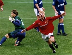 Первый матч за «Манчестер Юнайтед» Пол Скоулз провел в 1994 году