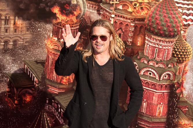 Брэд Питт на церемонии открытия XXXV Московского международного кинофестиваля