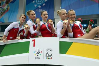 Российские гимнастки выиграли золото Универсиады в командном многоборье