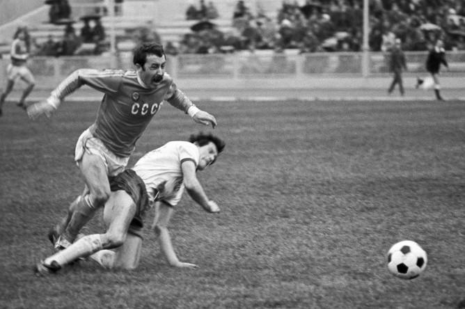 23 мая 1980 года. Москва. Финальный матч чемпионата Европы между молодежными сборными СССР и ГДР (1:0)
